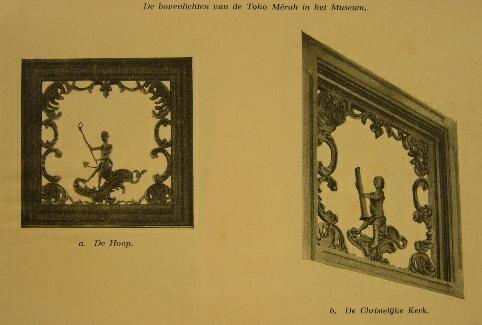 WALL, V.I. VAN DE. - De bovenlichten van de toko Merah in het Museum te Batavia.