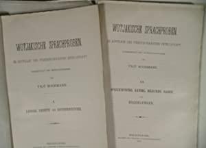 WICHMANN, YRJÖ. - Wotjakische Sprachproben. Im Auftrage der Finnisch-Urgrischen Gesellschaft.