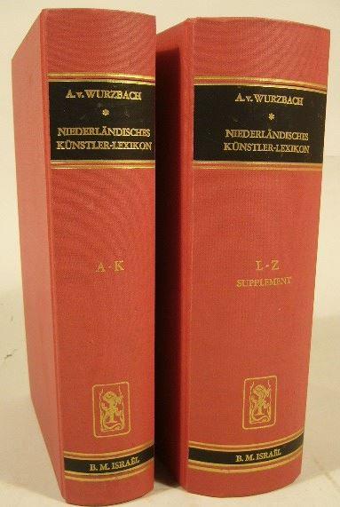 WURZBACH, ALFRED VON. - Niederländisches Künstler-Lexikon auf Grund archivalischer Forschungen bearbeitete. Mit mehr als 3000 Monogrammen. 3. Ausgabe.