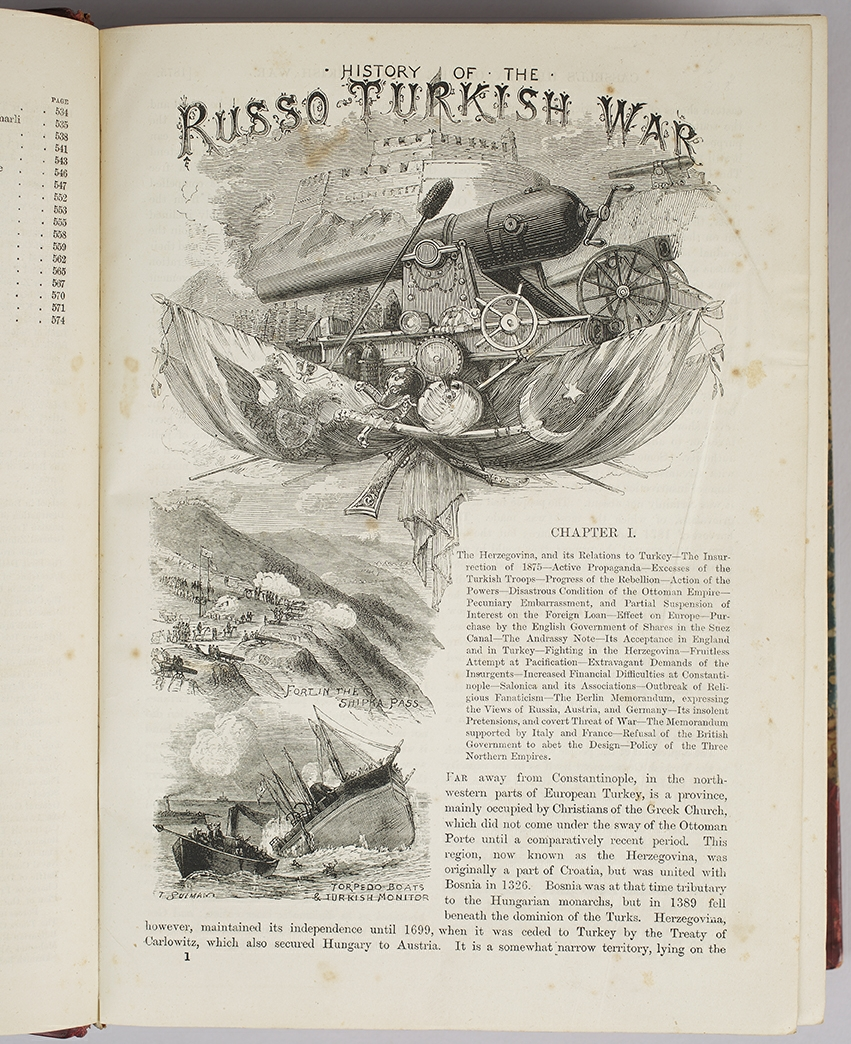 OLLIER, EDMUND. - Cassell's illustrated history of the Russo - Turkish war.