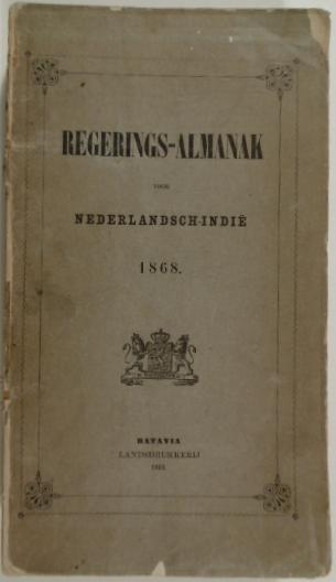 - REGERINGS-ALMANAK VOOR NEDERLANDSCH-INDIË 1868.